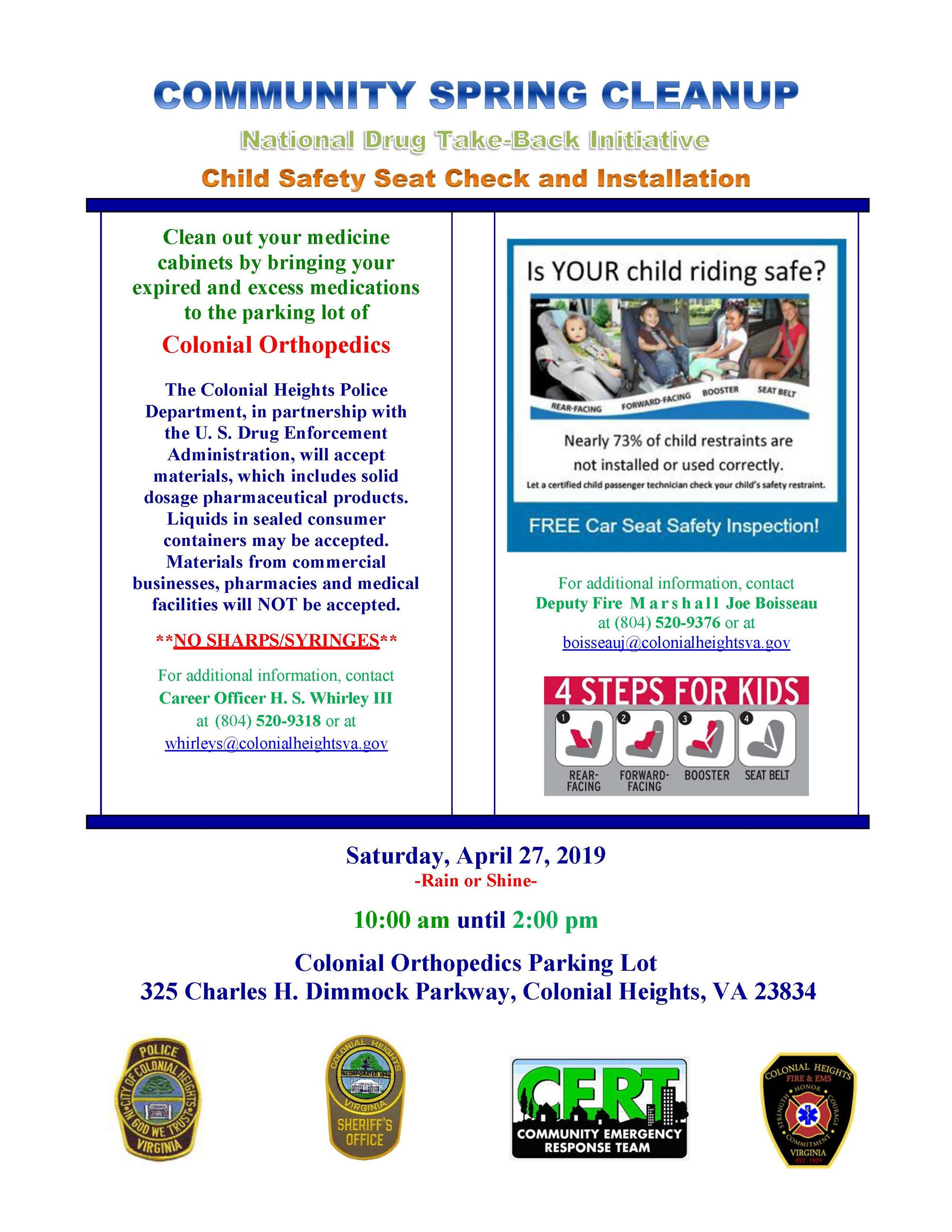 Community Cleanup Drug Takeback Event - April 2019